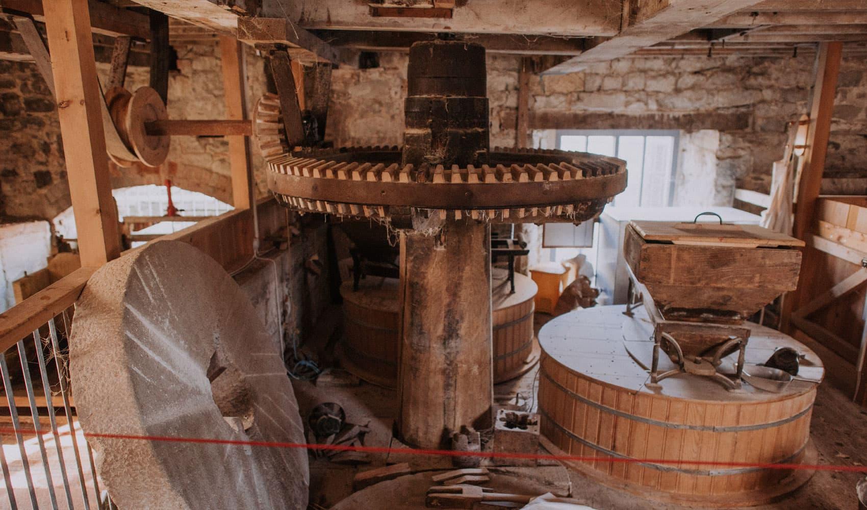 Inside the Town Mill Lyme Regis